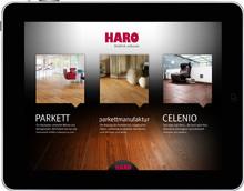 Die HARO iPad App - Tipps zum Wohnen und Einrichten mit Parkett & Co. – egal wann, egal wo