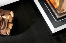 Die schwarze Schöne für den Boden - HARO Parkett Landhausdiele Eiche carbonschwarz
