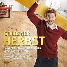 Finde die Goldene Diele - Die HARO Herbstaktion mit trendigen Böden und Gewinnspiel