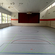 HARO Sports Flooring - School and sports clubs again on the sunny side - Renovation with sports floors and protective walls by HARO Sports Flooring.