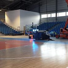 """""""Die Spieler finden die Halle ganz toll"""" - Größte Sporthalle Jenas mit mobilem HARO Sportboden"""