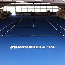 The big points decide the match… HARO Sports supplies the tennis court for the international ATP tennis tournament 2015 in St. Petersburg.