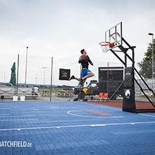 """Mit """"CAGE"""" erfolgreich an 3on3-Serie angeschlossen - Viel versprechendes Streetballevent in Bad Aibling mit neuem Outdoorboden RIO von HARO Sports"""