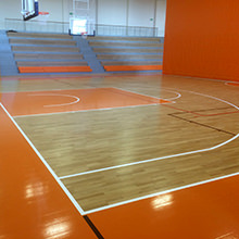Sports Culture and World Heritage - Sports floor from HARO Sports Flooring in the new gymnasium of the Benedictine Monastery of Pannonhalma - UNESCO World Heritage Site