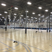 Sports icons amongst themselves - Misty May Treanor' sports center is equipped with more than 10.000m² / 107.700 ft² of HARO sports floors.