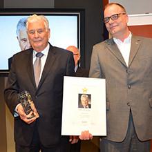 Peter Hamberger mit dem Parkettstar 2016 geehrt – Auszeichnung für Lebenswerk als Wegbereiter der europäischen Parkettindustrie