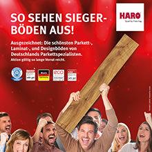 HARO Aktion 2017 - So sehen Siegerböden aus! Mit HARO Böden auf Gewinner setzen